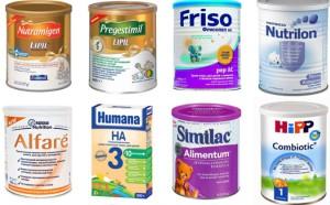 Молочные смеси для грудничков при аллергии
