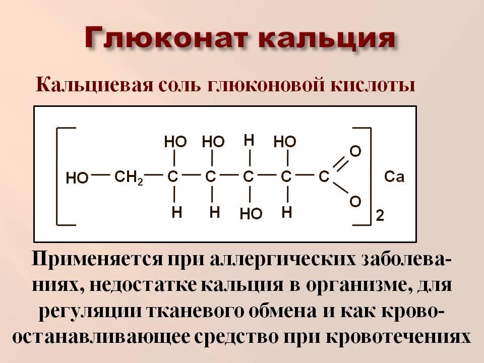 что такое глюконат кальция