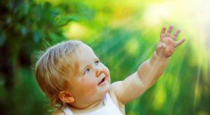 Ребенок и солнце