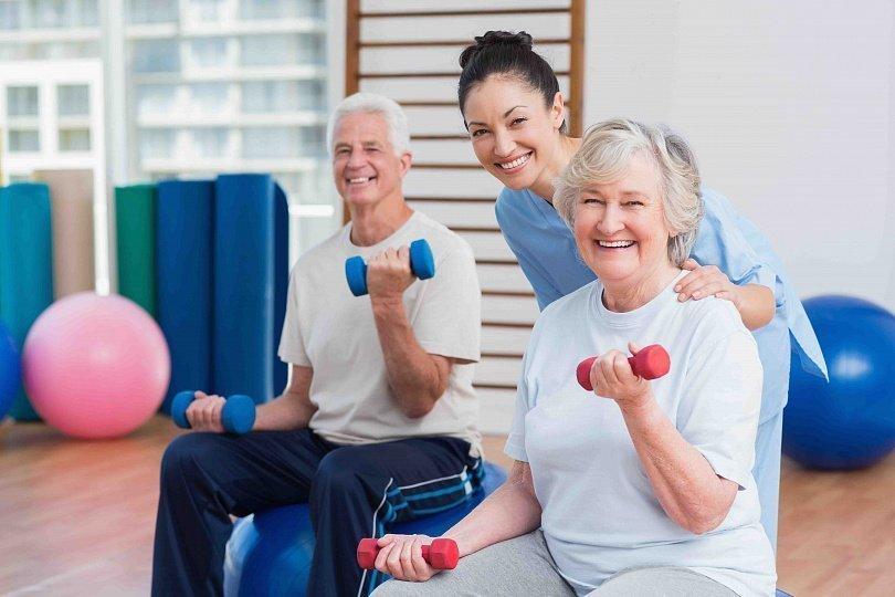Тренировки пожилых людей