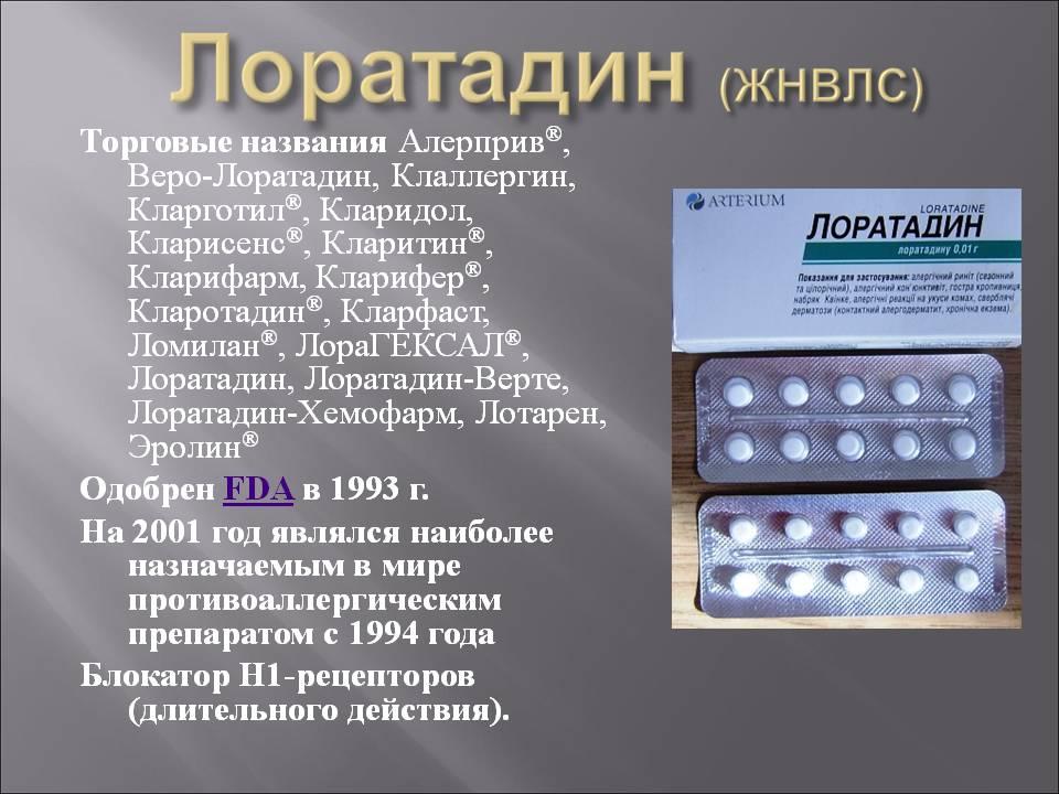 о препарате лоратадин