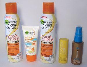 Средства для защиты кожи от солнца