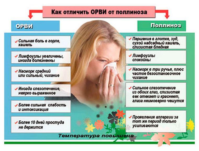 отличие аллергии от простуды